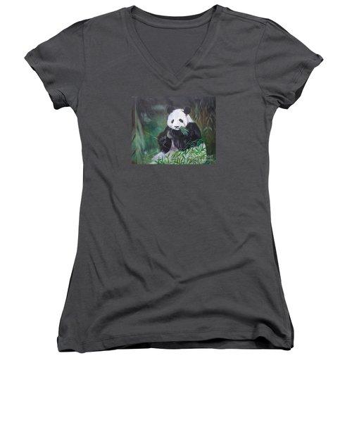 Giant Panda 1 Women's V-Neck T-Shirt