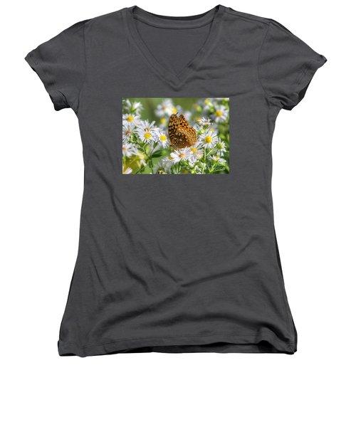 Women's V-Neck T-Shirt (Junior Cut) featuring the photograph Gods Creation-18 by Robert Pearson