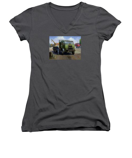 Gpo Foden Women's V-Neck T-Shirt (Junior Cut) by Mike  Jeffries