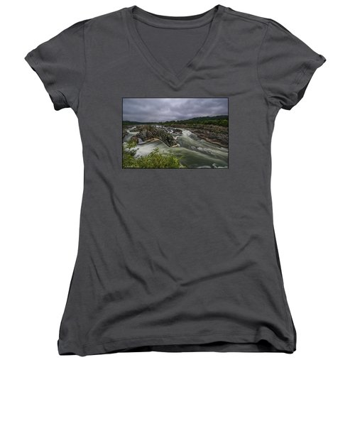 Great Falls Women's V-Neck T-Shirt (Junior Cut)