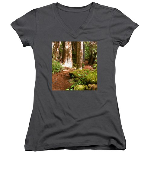 Hiking Trail Women's V-Neck (Athletic Fit)