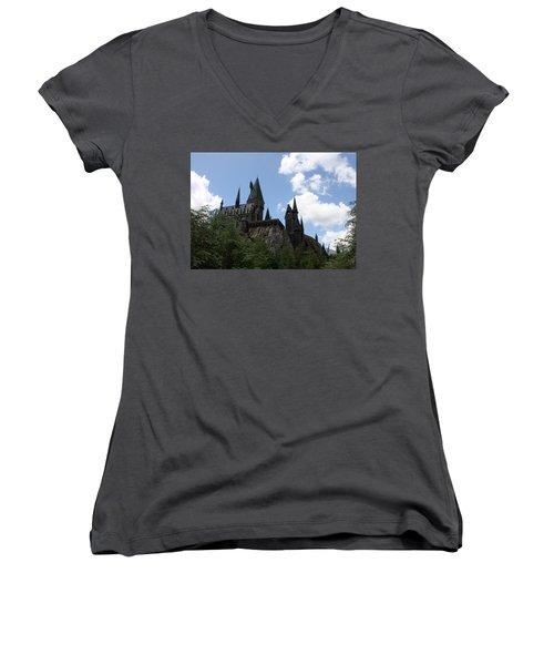 Hogwarts Castle Women's V-Neck T-Shirt