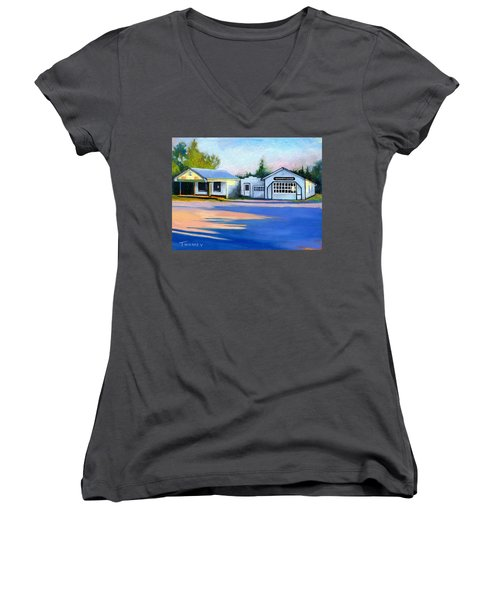 Huckstep's Garage Free Union Virginia Women's V-Neck T-Shirt