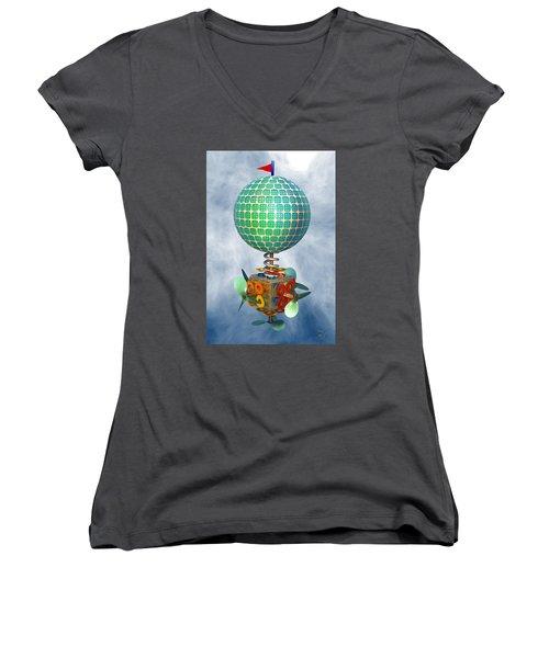 Improbability Women's V-Neck T-Shirt