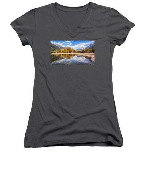 Women's V-Neck T-Shirt (Junior Cut) featuring the photograph Into The Wild by Aaron Aldrich