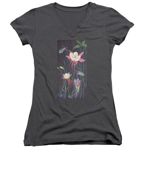 Japanese Flowers Women's V-Neck T-Shirt