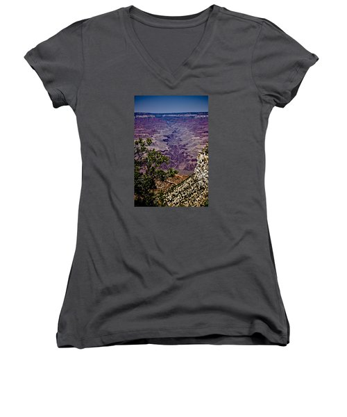 Women's V-Neck T-Shirt (Junior Cut) featuring the photograph 1 by Joel Loftus