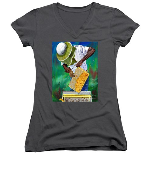 Keeper Of The Bees Women's V-Neck