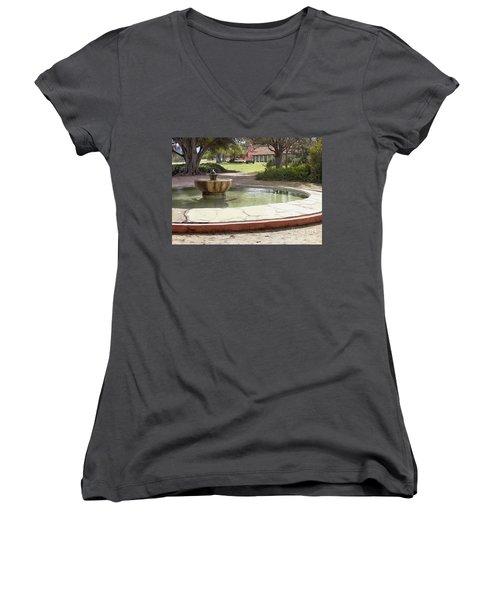 La Purisima Fountain Women's V-Neck (Athletic Fit)