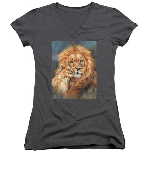 Lion Love Women's V-Neck