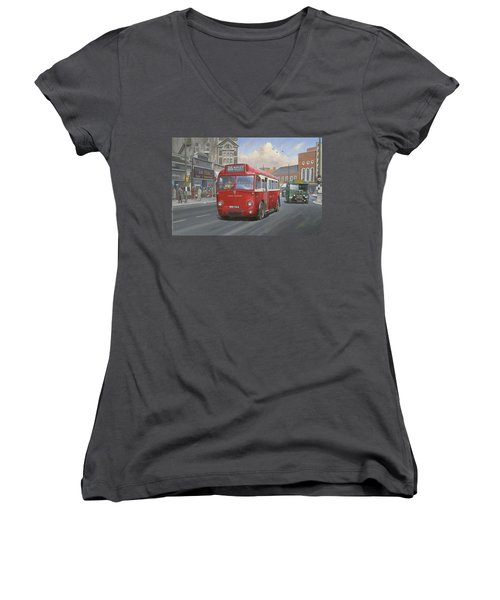 London Transport Q Type. Women's V-Neck T-Shirt (Junior Cut) by Mike  Jeffries