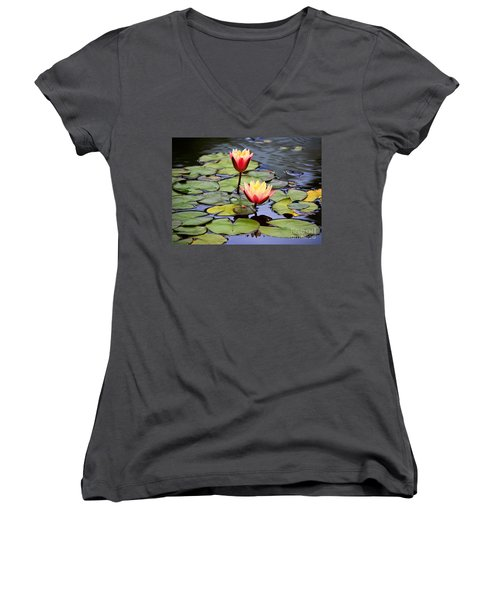 Lotus Women's V-Neck (Athletic Fit)