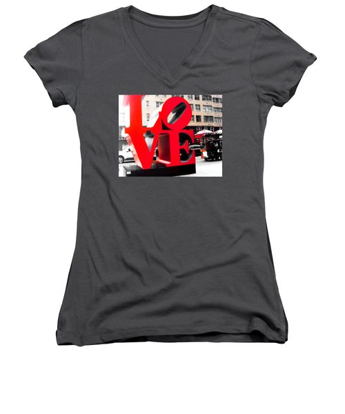 Love Women's V-Neck T-Shirt (Junior Cut) by J Anthony