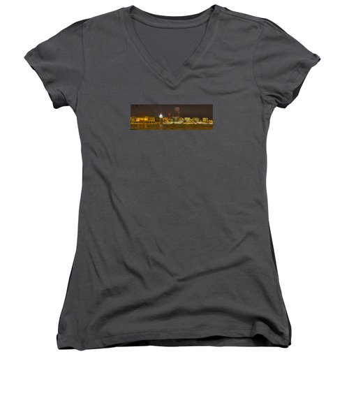 Madison New Years Eve Women's V-Neck T-Shirt