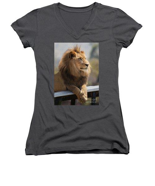 Majestic Lion Women's V-Neck T-Shirt