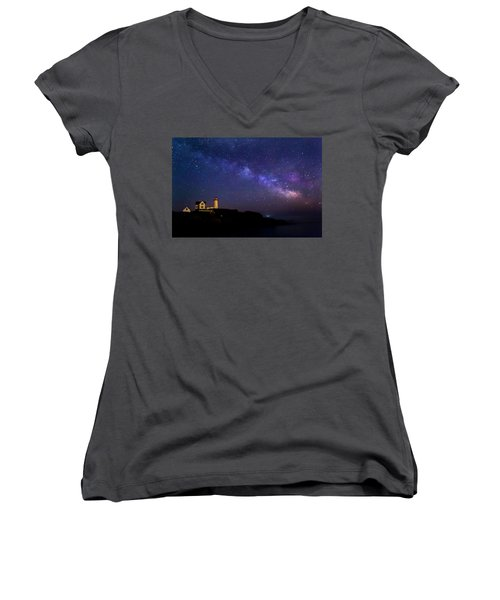Milky Way Women's V-Neck T-Shirt