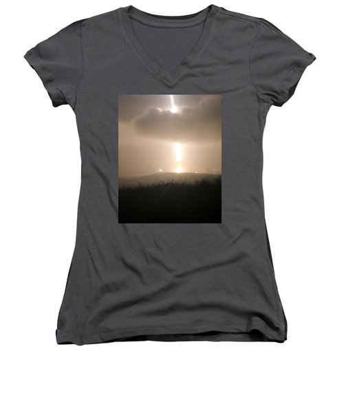 Women's V-Neck T-Shirt (Junior Cut) featuring the photograph Minuteman IIi Missile Test by Science Source