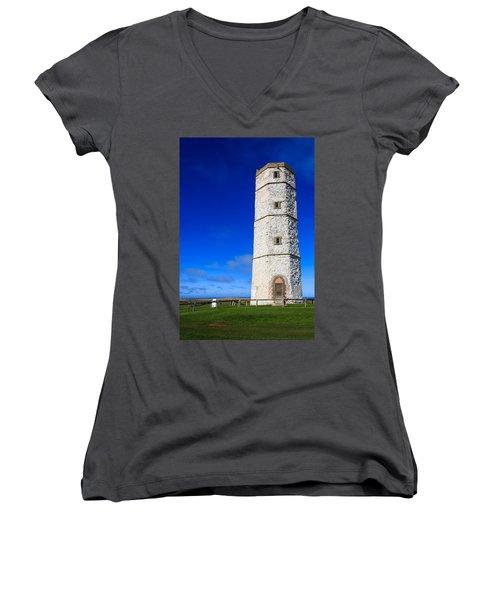 Old Lighthouse Flamborough Women's V-Neck