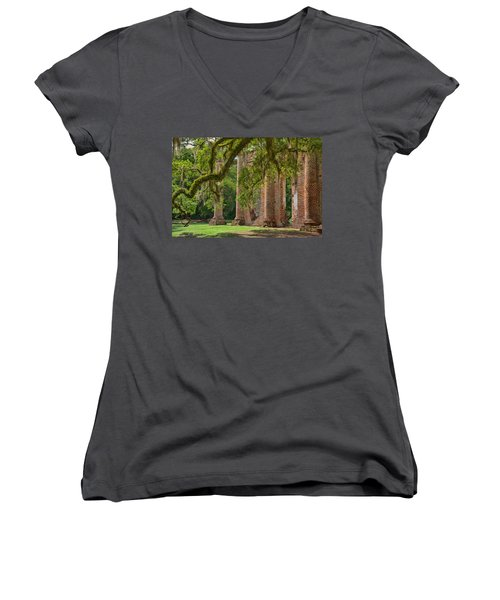 Old Sheldon Church Women's V-Neck T-Shirt