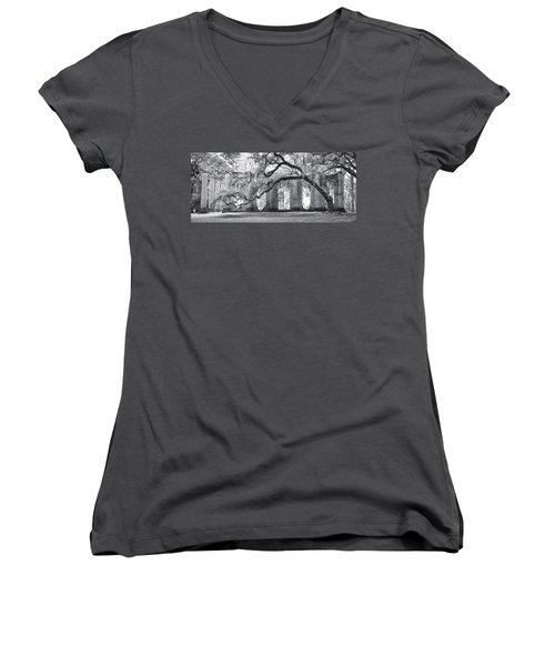 Old Sheldon Church - Side View Women's V-Neck T-Shirt (Junior Cut) by Scott Hansen