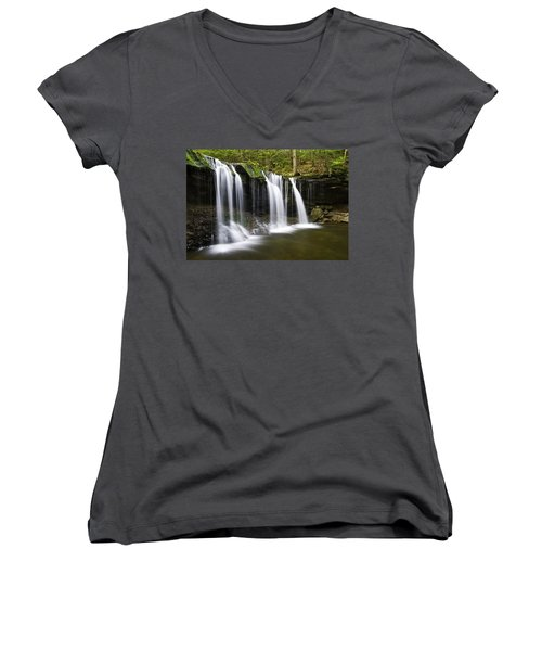 Oneida Falls Women's V-Neck T-Shirt (Junior Cut)