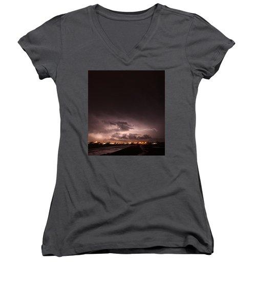 Our 1st Severe Thunderstorms In South Central Nebraska Women's V-Neck T-Shirt