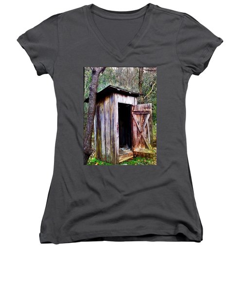 Outhouse Women's V-Neck T-Shirt