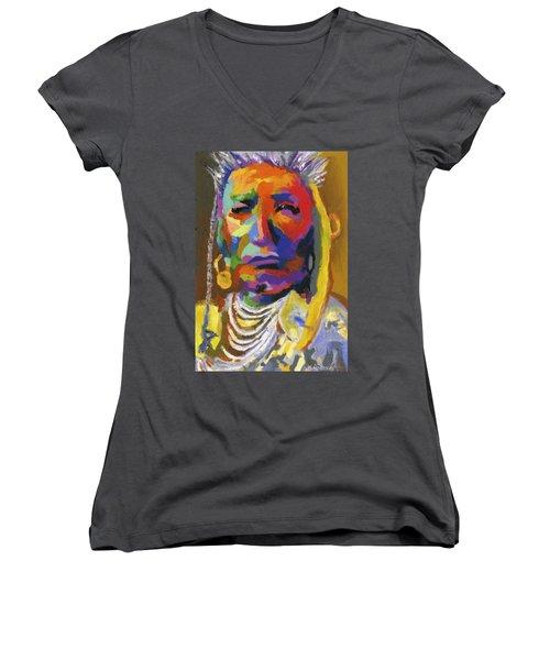 Proud Native American II Women's V-Neck T-Shirt