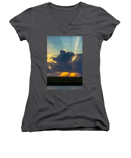Rays From The Clouds Women's V-Neck