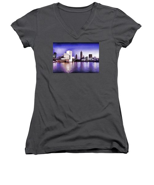 Rock And Roll Hall Of Fame - Cleveland Ohio - 3 Women's V-Neck