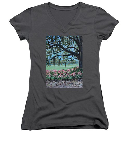 Savannah Spring Women's V-Neck T-Shirt