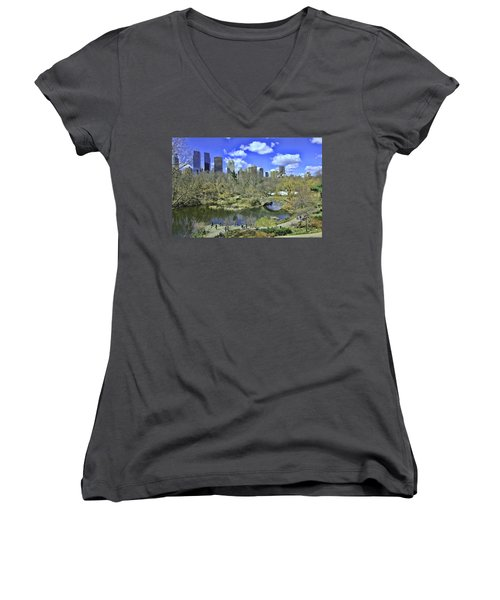 Springtime In Central Park Women's V-Neck