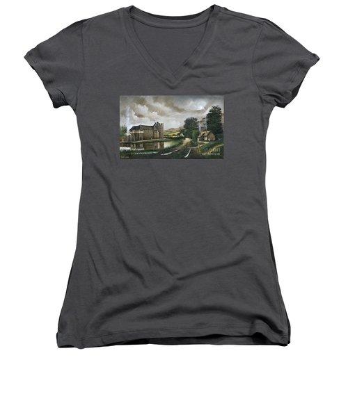 Stokesay Castle Women's V-Neck