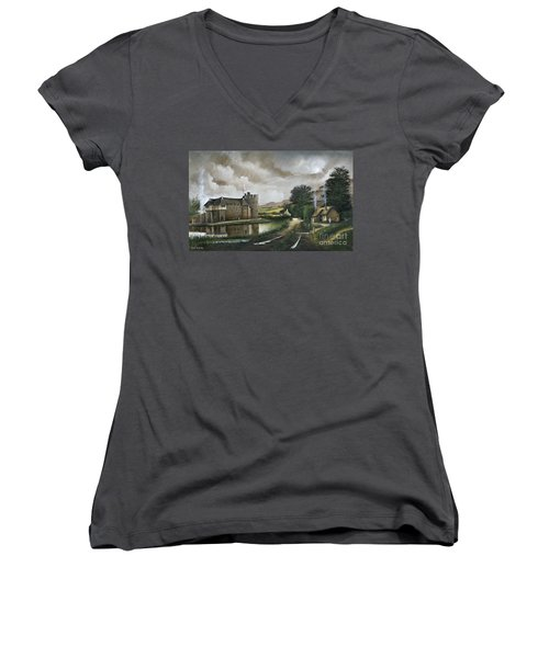 Stokesay Castle Women's V-Neck