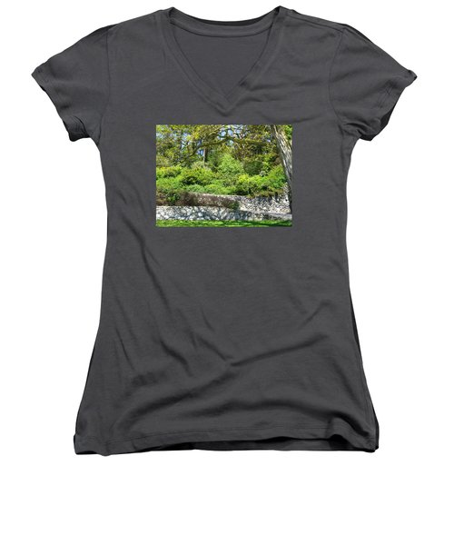 Stone Wall 1 Women's V-Neck (Athletic Fit)
