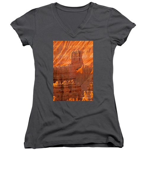 Sunrise At Sunset Point Bryce Canyon National Park Women's V-Neck (Athletic Fit)