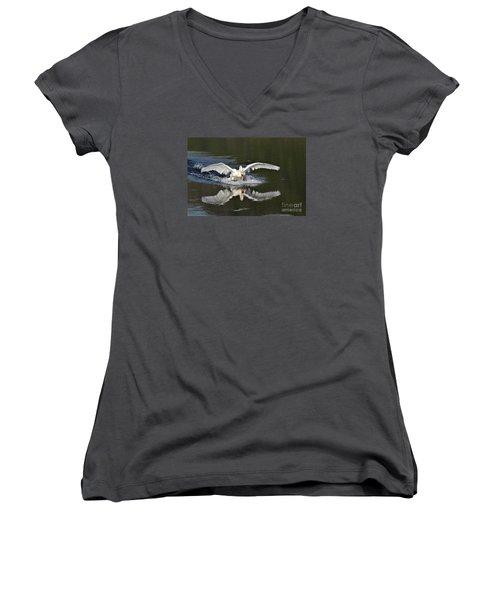 Swan Landing Women's V-Neck (Athletic Fit)