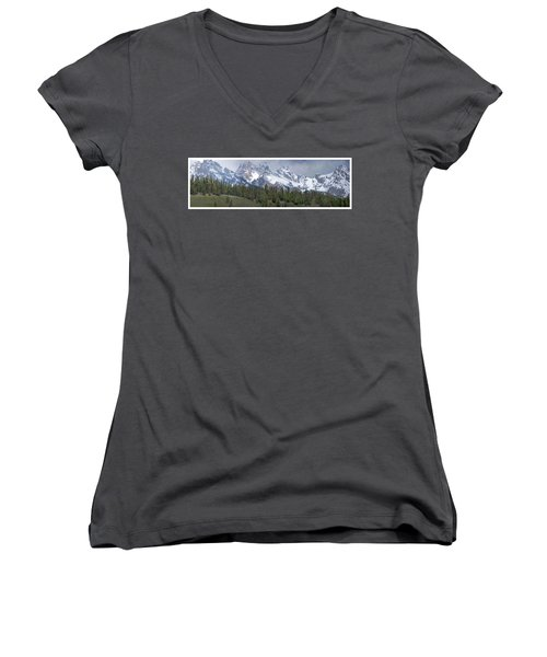 Tetons Panorama Women's V-Neck (Athletic Fit)