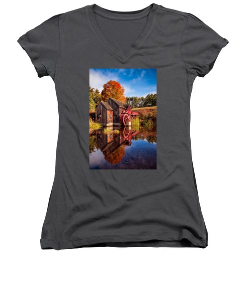 The Old Grist Mill Women's V-Neck
