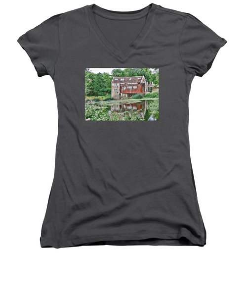 The Old Mill Avoncliff Women's V-Neck (Athletic Fit)
