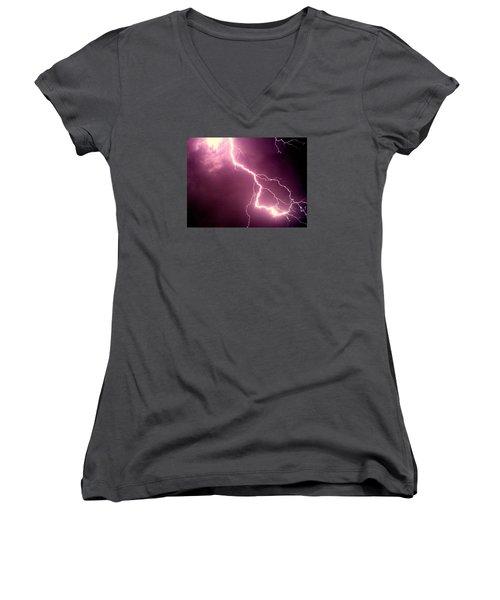 Lightning Women's V-Neck T-Shirt