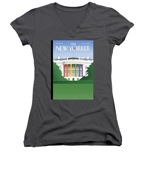 New Yorker May 21st, 2012 Women's V-Neck T-Shirt