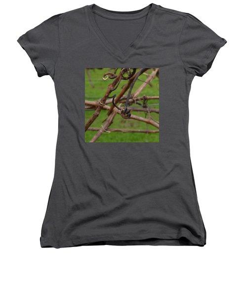Vineart . Vat 3.6 Women's V-Neck T-Shirt (Junior Cut) by Cheryl Miller