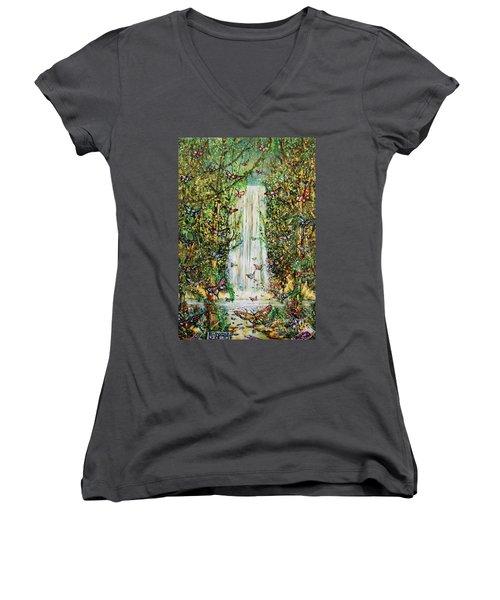Waterfall Of Prosperity II Women's V-Neck T-Shirt