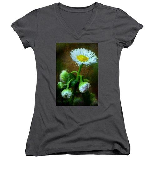 We've Only Just Begun Women's V-Neck T-Shirt (Junior Cut) by Michael Eingle