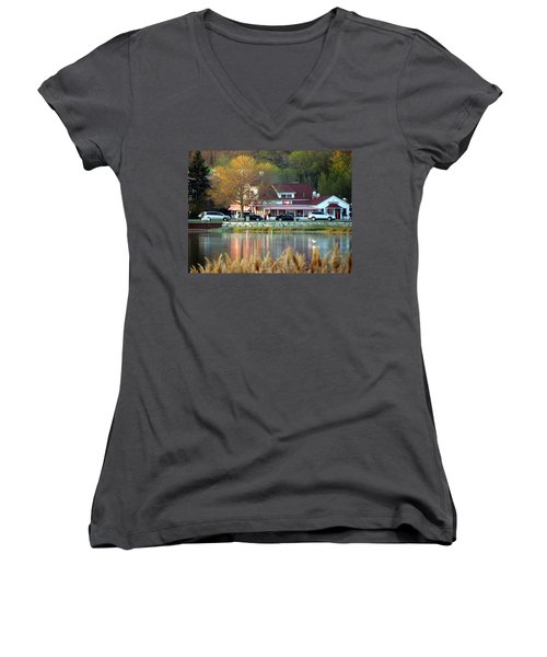 Wilson's Ice Cream Parlor Women's V-Neck (Athletic Fit)