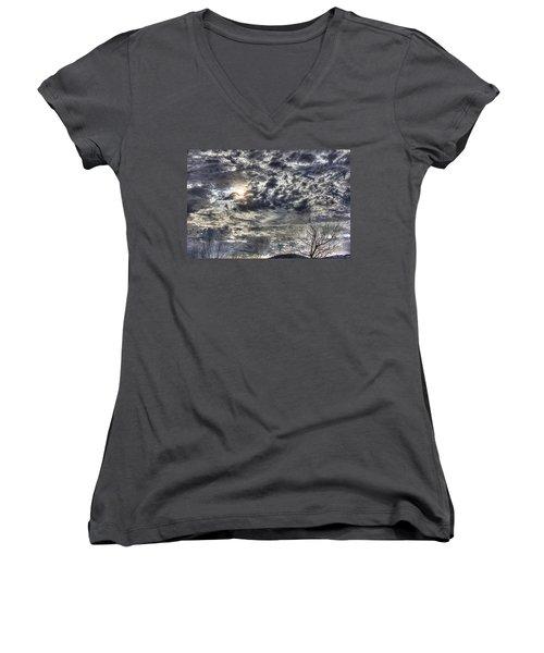 Winter Sky Women's V-Neck T-Shirt