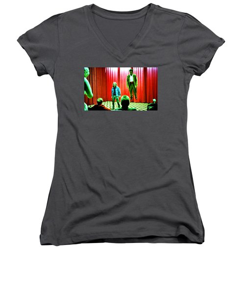 Black Lodge Women's V-Neck T-Shirt