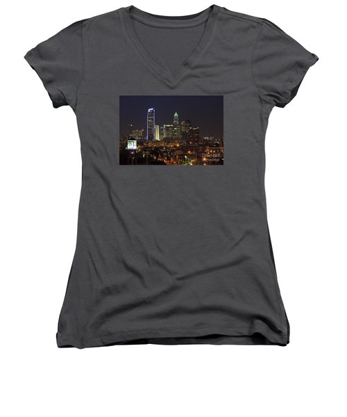 Charlotte Skyline Women's V-Neck (Athletic Fit)