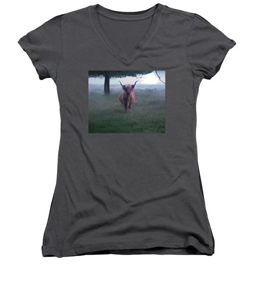 11. Highland Women's V-Neck (Athletic Fit)